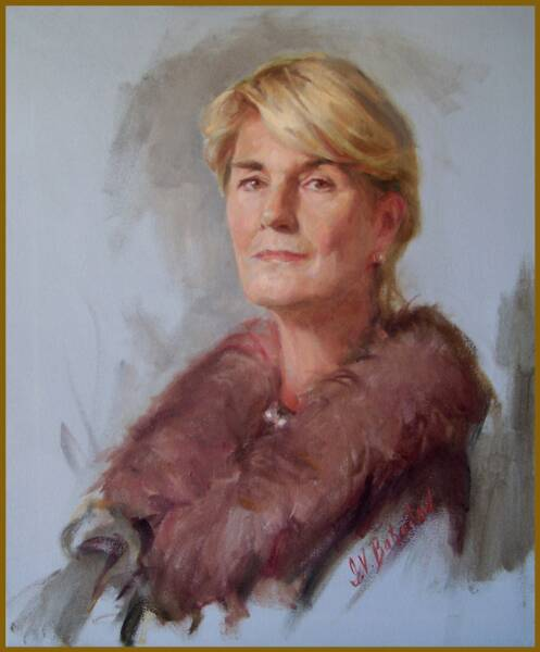 Portrait of Ruth Gjessing by Igor Babailov